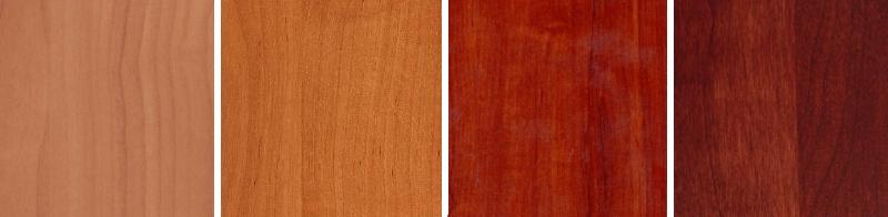 Варианты оттенков мебели вишня