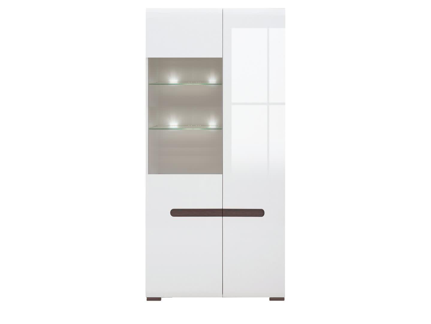 Шкаф-витрина BRW Azteca REG1W1D/21/9 с подсветкой