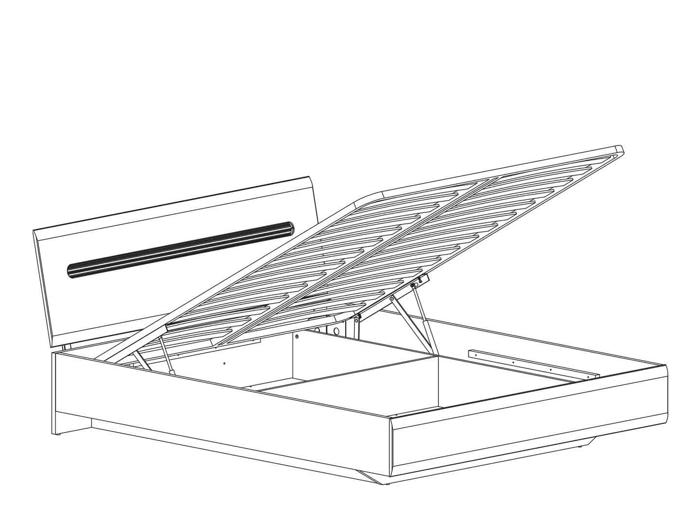 Кровать BRW Azteca LOZ 160x200 с подъемным механизмом