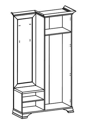 Шкаф с вешалкой BRW Kentaki PPK / 110P