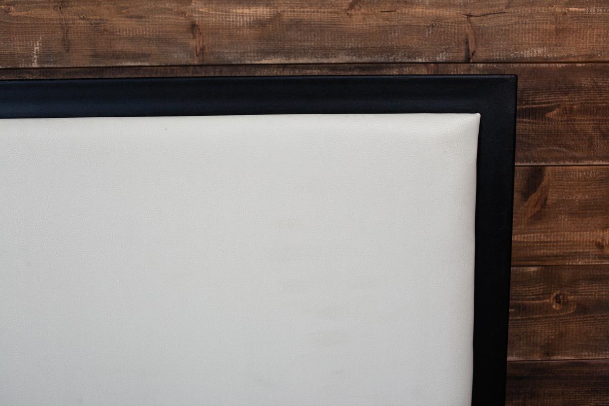 Каркас - черный/ Изголовье (экокожа) - белый
