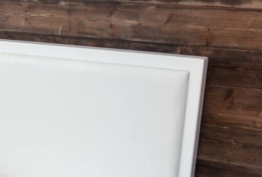 Каркас - белый/ Изголовье (экокожа) - белый