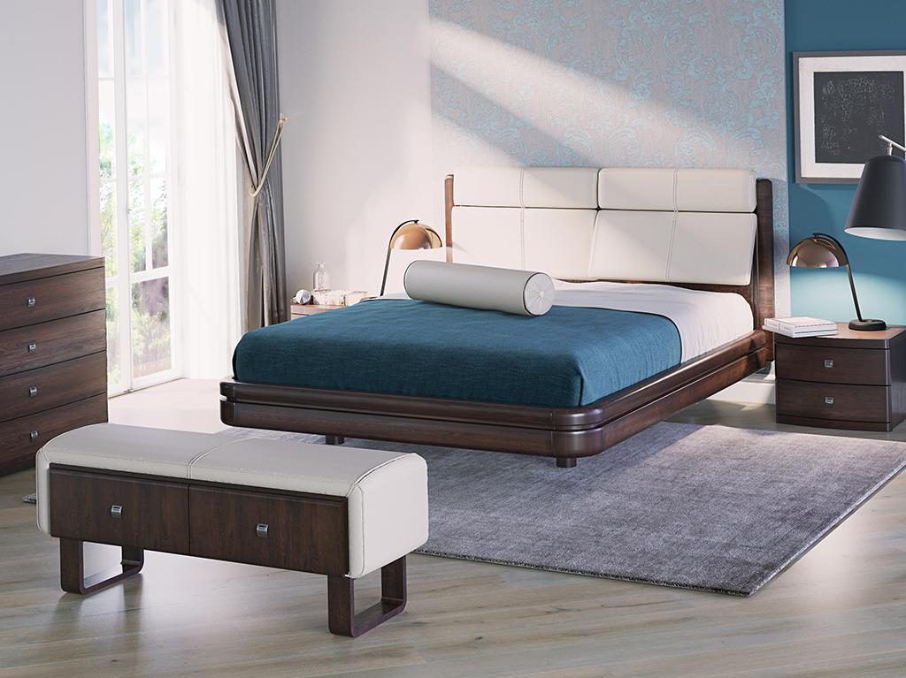 Кровать с кожаной спинкой Торис Ита Сонеро