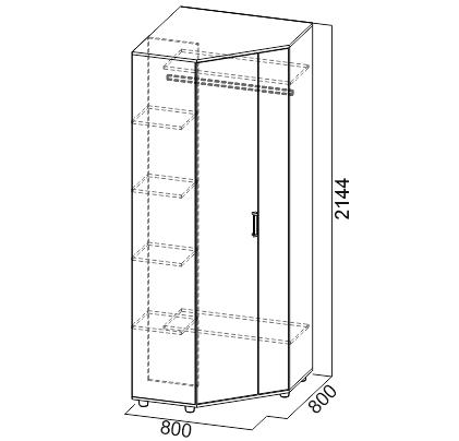 Шкаф угловой SV-мебель Визит-1