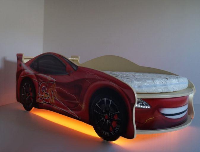 Кровать-машинка ДримКар с матрасом
