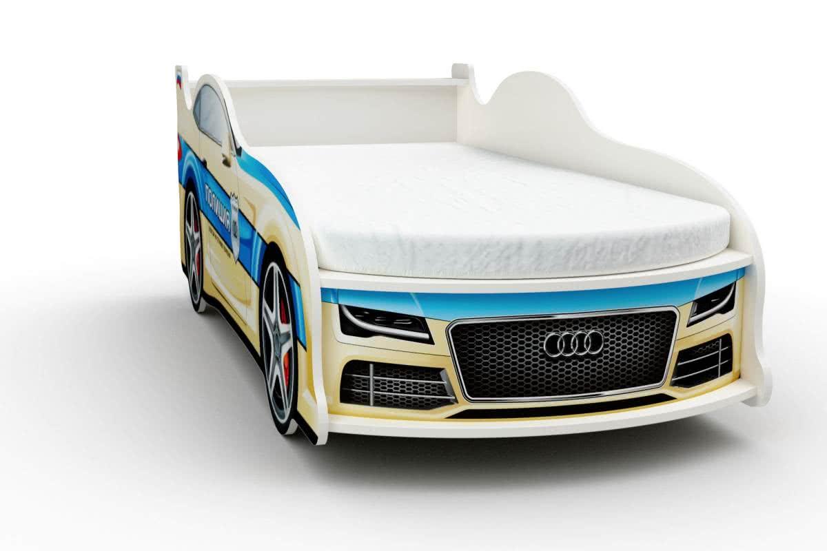 Кровать-машинка Ауди с матрасом Бети хлопок