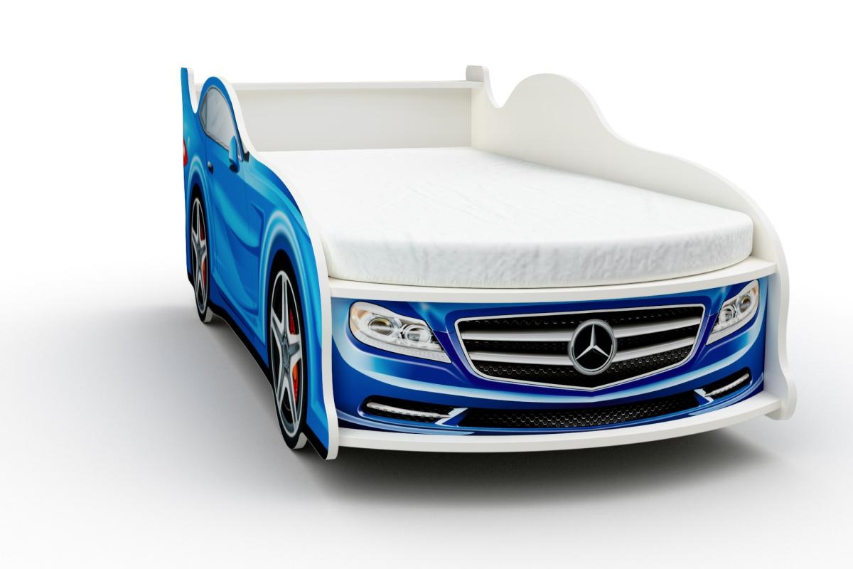 Кровать-машинка Мерседес  с матрасом Бети хлопок