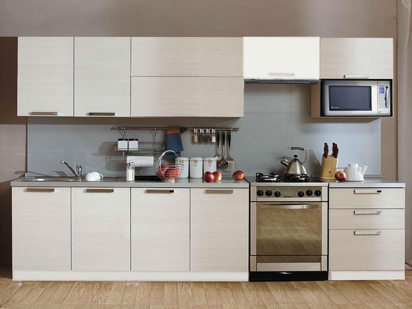 Кухонный гарнитур Трапеза Престиж 2200 (II категория) со шкафом под микроволновую печь