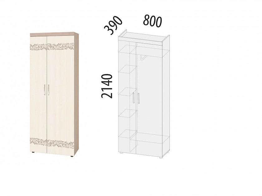 Шкаф для одежды 80 Витра Мэри, 39.02