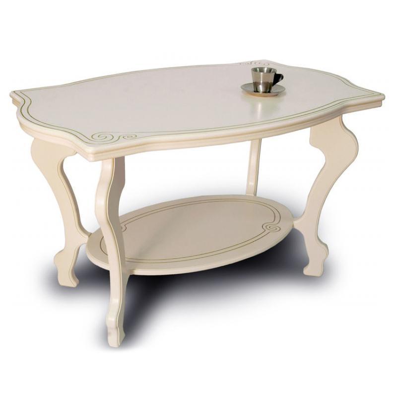 Журнальный столик Мебелик Берже-1 слоновая кость