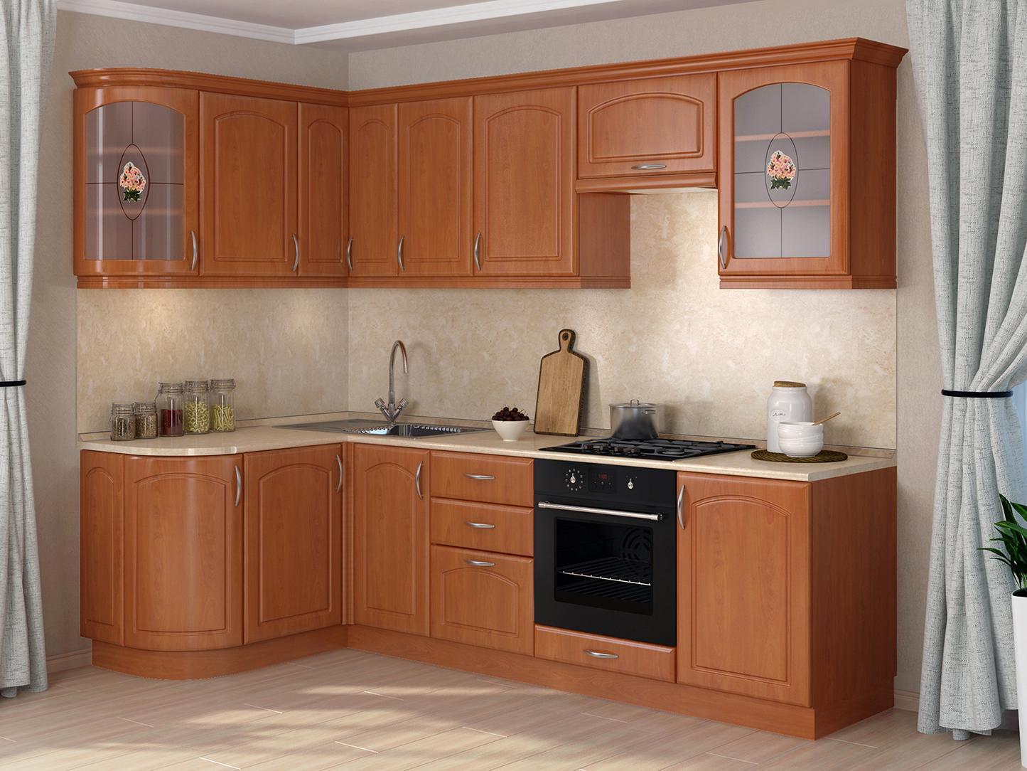 Кухонный гарнитур Трапеза Классика 1435x2000 (II категория)