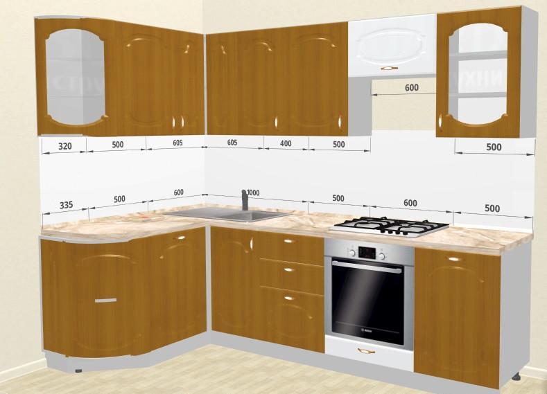 Кухонный гарнитур Трапеза Классика 1435x2000 (II кат)