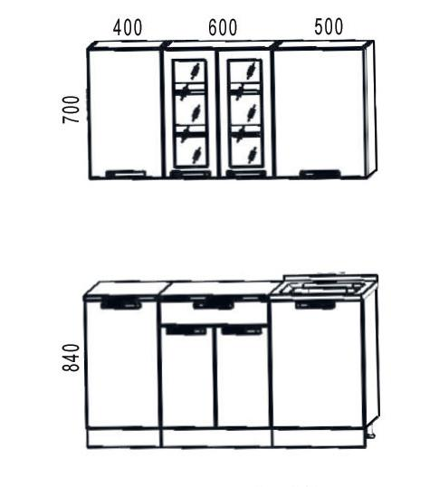 Кухонный гарнитур Трапеза Классика 1500 (II кат)