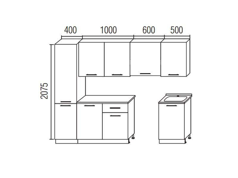 Кухонный гарнитур Симпл 2500 (I кат)
