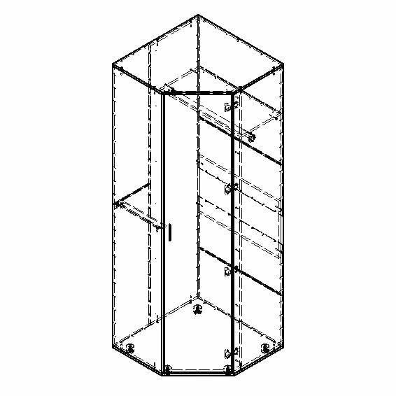 Шкаф для одежды угловой формула мебели дельта 1. - детская ф.