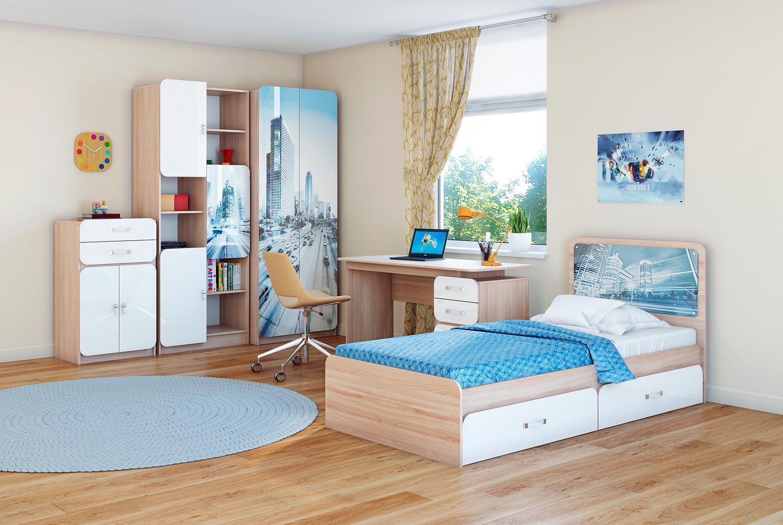 Голубая детская мебель Манхеттен Ижмебель