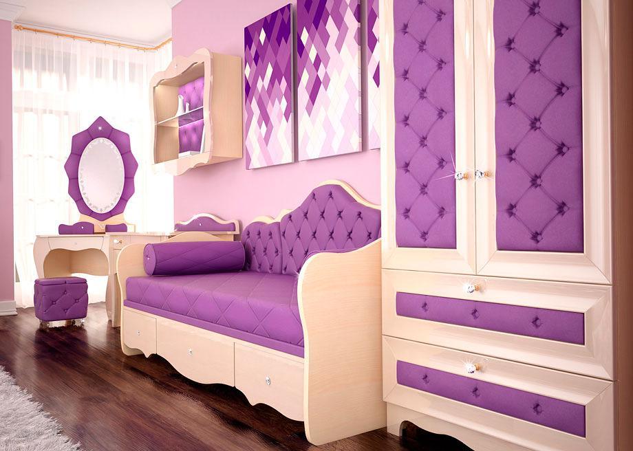 Фиолетовая детская мебель Ренессанс Гламур