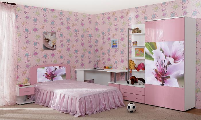 Розовая детская Бьянка Ижмебель