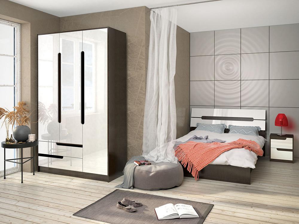 Спальня ТЭКС Гавана (белый глянец)