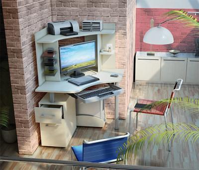 Модульный компьютерный стол Столплит
