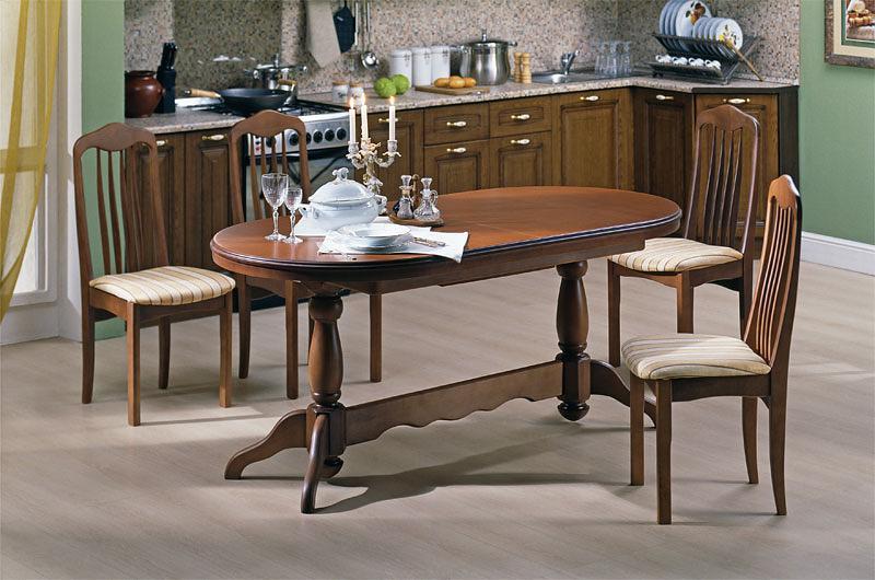 Круглые и овальные столы для кухни