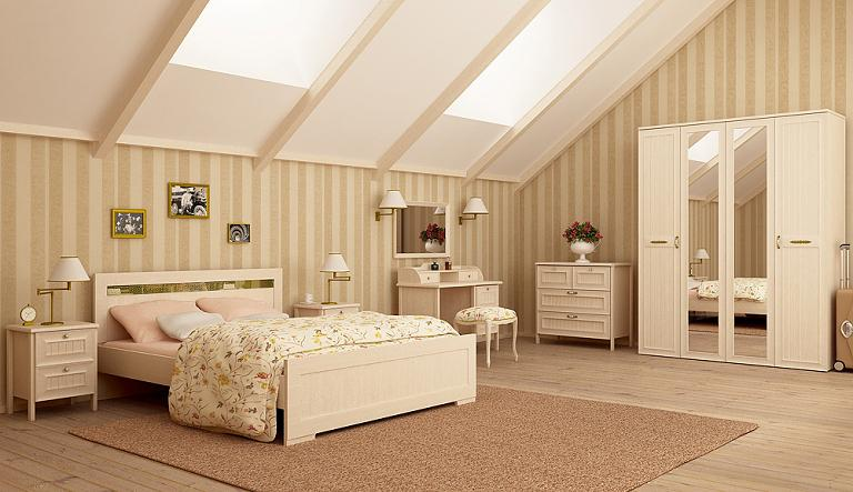 Стили дизайна спален: спальня в стиле прованс (Интеди «Соната»)