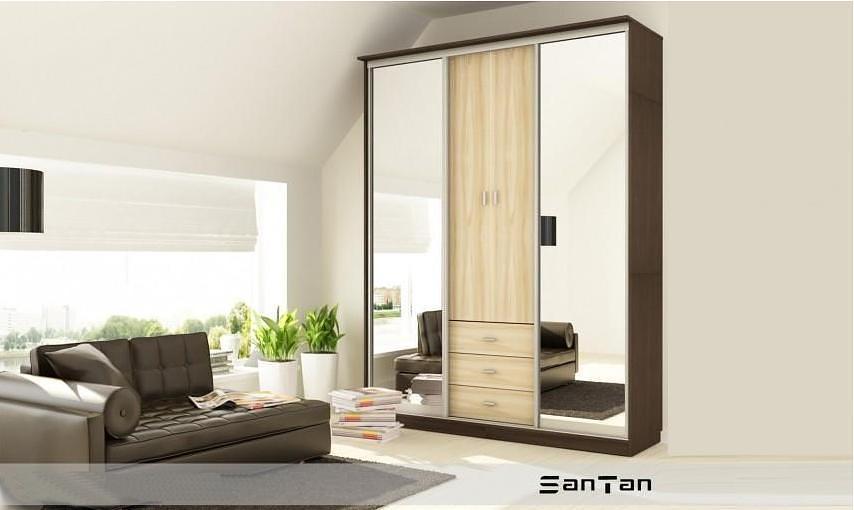 Шкаф-купе Santan Микс с зеркалами