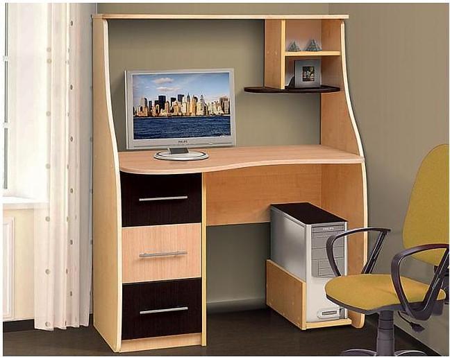 Прямые компьютерные столы с тумбой цвета венге аджио mebhome.
