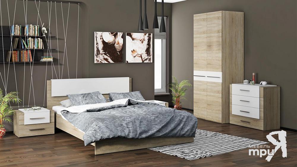 Спальня ТриЯ Ларго Белый глянец