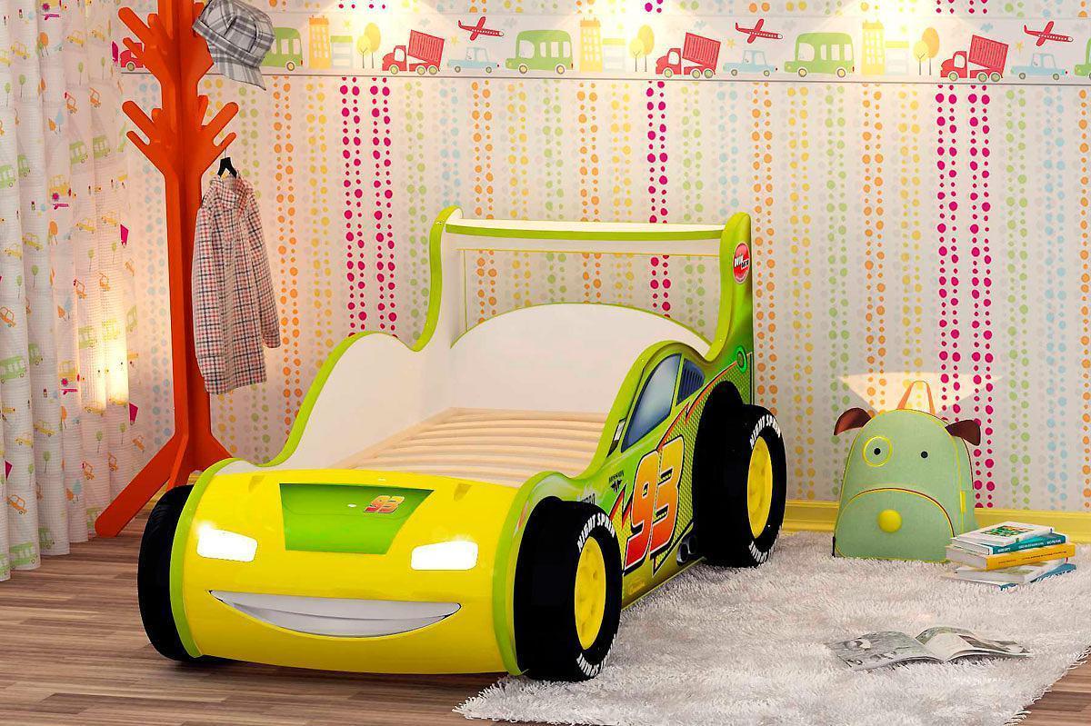 Кроватка-машинка Молния Red River для дошкольного возраста
