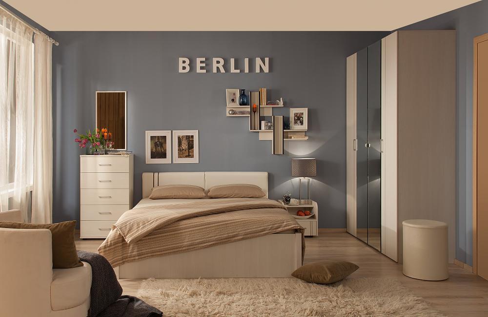 Спальня Глазов Berlin (бодега светлый)