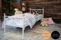 Детская металлическая кровать Бабочка
