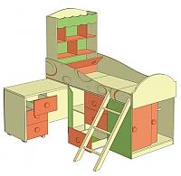 Кровать комбинированная со столом Любимый дом Фруттис, ЛД 503.010
