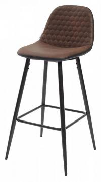Барный стул М-City LION микрофибра PK-03/ PU P-1 black