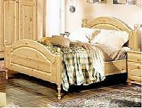Кровать Бобруйскмебель Лотос одинарная с заглушкой  с ножной спинкой (90), Б-1089-05