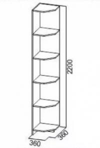 Угловое окончание SV-мебель Вега ВМ-09