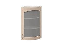 Шкаф торцевой со стеклом правый Боровичи Трапеза массив люкс, МВ-29В