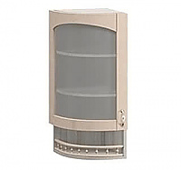 Шкаф торцевой со стеклом левый Боровичи Трапеза массив люкс, МВ-30В