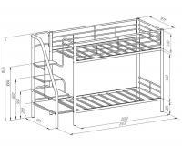 Двухярусная кровать Формула мебели Толедо-Я