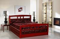 Кровать Альянс XXI век Флирт 1 (кожа) с ящиками