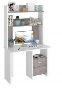 Компьютерный стол Мэрдэс СКЛ-Прям100+НКЛХ-100