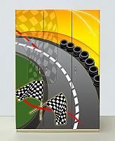 Шкаф 3х дверный Спорткар желтый