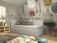 Кровать Life Junior софа (экокожа/ткань)