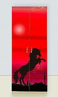 Шкаф 2х дверный Мустанг красный