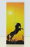 Шкаф 2х дверный Мустанг желтый