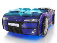 Кровать-машинка Romack Kiddy Синяя