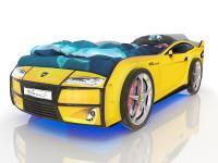 Кровать-машинка Romack Kiddy Желтая