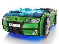 Кровать-машинка Romack Kiddy Зеленая