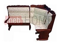 Угловой диван Себастьян Шале с резьбой (1100 мм) правый