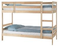 Кровать Боровичи Пирус (для покраски) двухъярусная массив